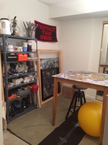 Camilo Sanin's Artist Studio in Arlington, VA